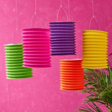 *SALE* Tropical Hot Summer Lanterns - pack of 5